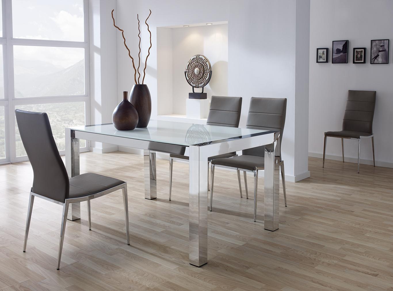 Mesas de comedor modernas for Sillas blancas modernas para comedor